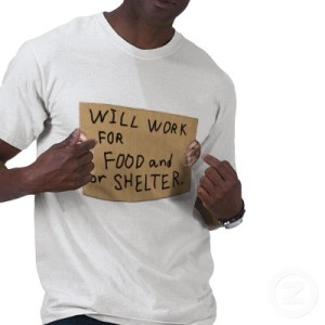 will work for food shelter